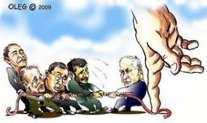 Caricatura editorial del artista israelí Oleg Schwartzburg.