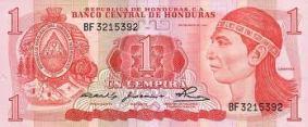 UN LEMPIRA MONEDA NACIONAL DE HONDURAS