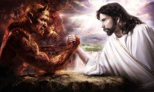Satanas y Jesus en pulso