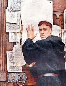 Martin Lutero y las 95 tesis