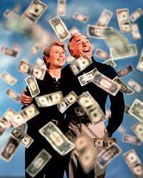 prosperidad llueve dinero
