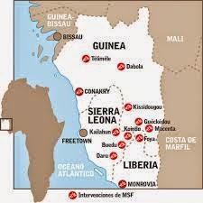 ebola mundial mapa