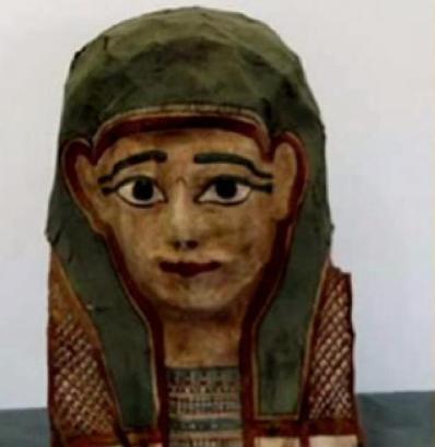 Dentro de la cara de esta momia estaba el papiro