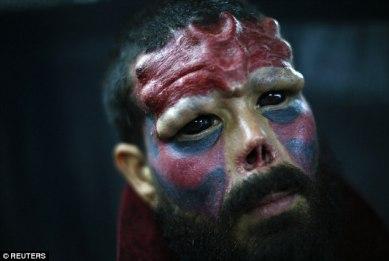 Venezolano conocido como Red Skull