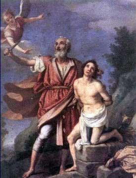 """""""Representación de Abraham a punto de sacrificar a su amado hijo Isaac"""""""