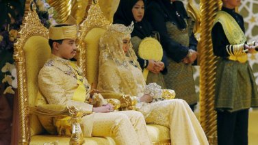 La boda del hijo del sultán de Brunéi.