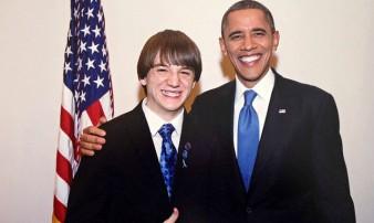 Jack Andraka y Obama