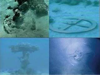 Restos de antiguos carros Egipcios y diversos objetos encontrado en el fondo del Mar Rojo por donde cruzaron los Hebreos