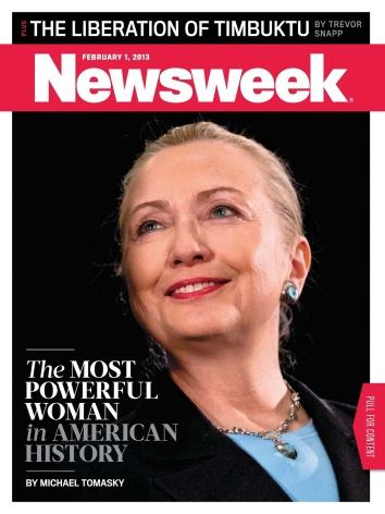 """(""""La mujer más poderosa en la historia estadounidense"""", febrero de 2013.)"""