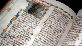 Una biblia del siglo XV.