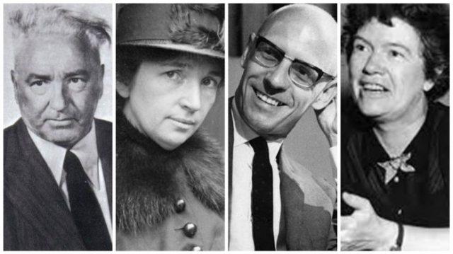 Cuatro de los principales ideólogos de género: Wilhelm Reich, Margaret Sanger, Michel Focault y Margaret Mead / Actuall