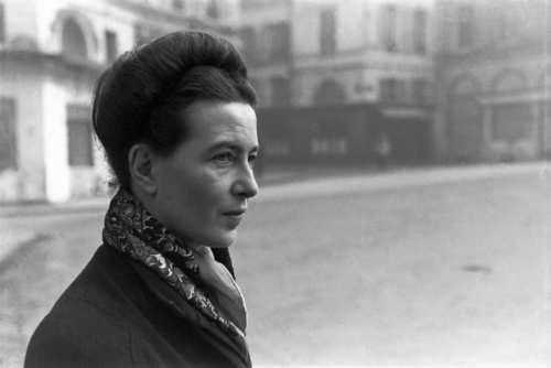 La filósofa feminista, Simone de Beauvoir