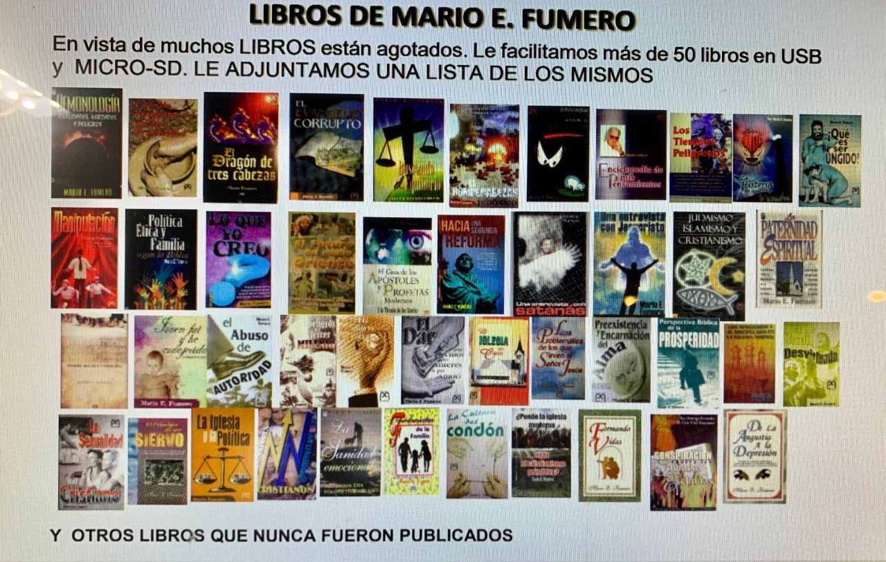 LIBROS MARIO FUMERO